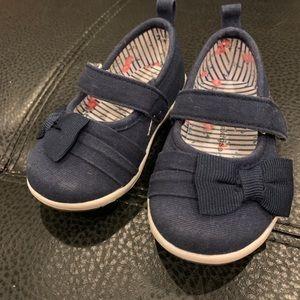 EUC Navy canvas koala kids baby shoes size 3